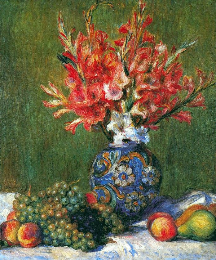 Pierre Auguste Renoir Flowers and Fruit