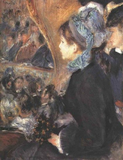 Pierre Auguste Renoir Her First Evening Out