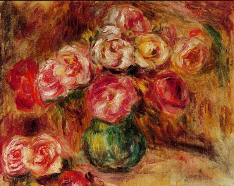 Pierre Auguste Renoir Vase of Flowers II