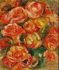 Pierre Auguste Renoir A Bowlful Of Roses painting