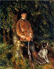 Pierre Auguste Renoir Alfred Berard And His Dog painting