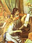 Pierre Auguste Renoir Girls at the Piano I painting