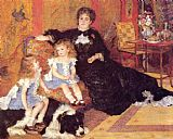 Pierre Auguste Renoir Madame Georges Charpentier and her Children, Georgette and Paul painting