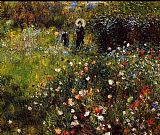 Pierre Auguste Renoir Summer Landscape Aka Woman With A Parasol In A Garden painting