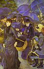 Pierre Auguste Renoir The Umbrellas painting