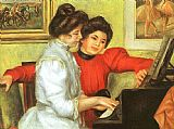 Pierre Auguste Renoir Yvonne and Christine Lerolle Playing the Piano painting