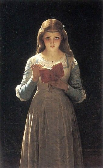 Pierre-Auguste Cot Young Maiden Reading a Book