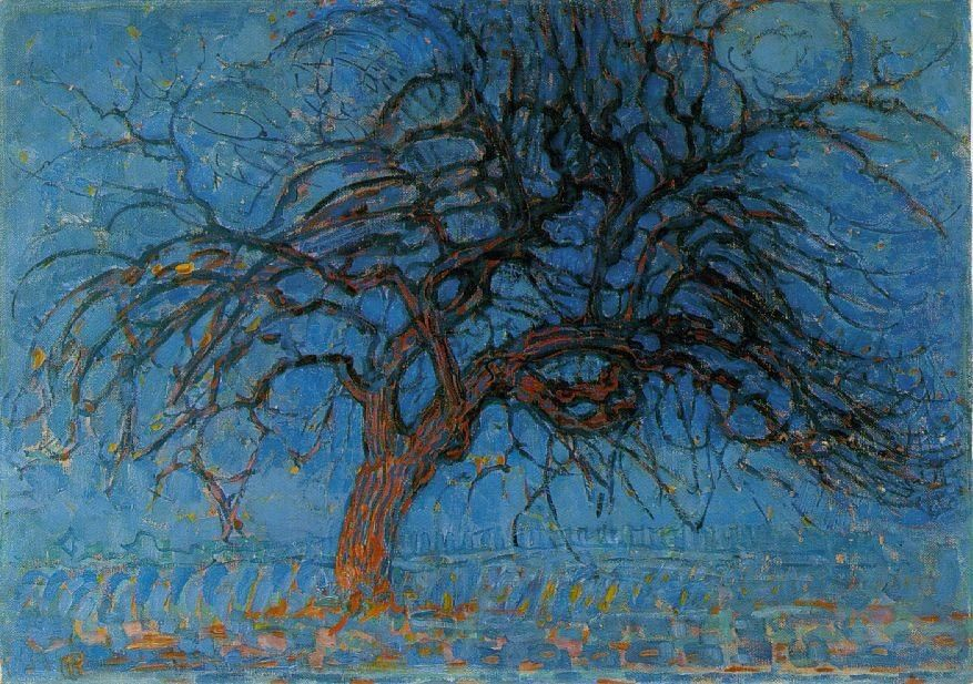 Piet Mondrian Avond Evening Red Tree