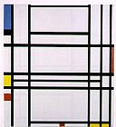 Piet Mondrian Composition No. 10 painting