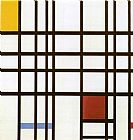 Piet Mondrian Composition with Red Yellow and Blue painting