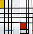 Composition with Yellow Blue and Red