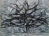 Abstract paintings - Gray Tree by Piet Mondrian