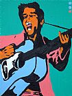 Pop art elvis painting