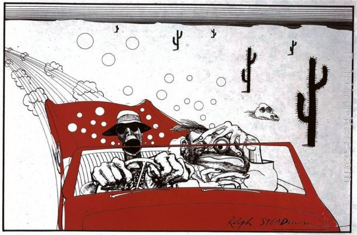 Ralph Steadman Art Fear And Loathing In Las Vegas