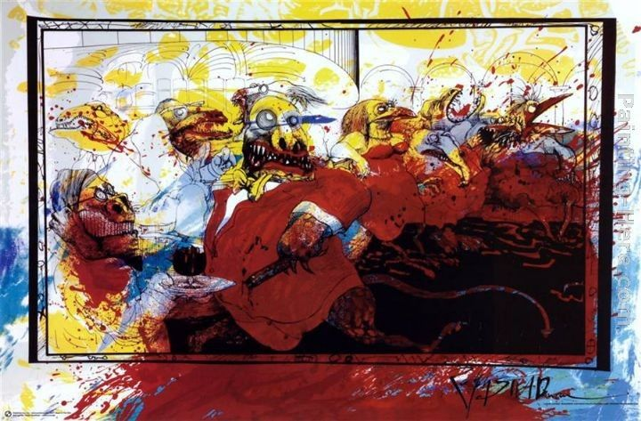 Ralph Steadman Art Lizard Lounge