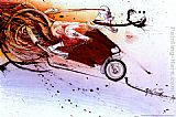 Ralph Steadman Art Hunter on Ducati painting