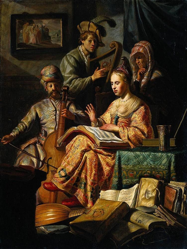 Rembrandt Musical Allegory