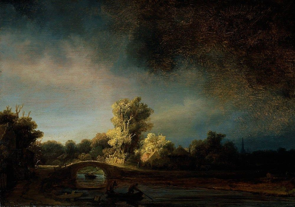 Rembrandt The Stone Bridge