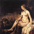 Rembrandt Bathsheba at Her Bath painting
