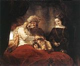 Rembrandt Jacob Blessing the Children of Joseph painting