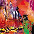 City paintings - New York by Robert Holzach