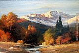 Landscape paintings - Sunrise in the High Sierra by Robert Wood