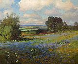Robert Wood Texas Bluebonnets painting