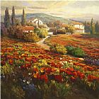 Roberto Lombardi Poppy Fields painting