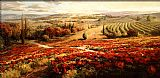 Roberto Lombardi Red Poppy Panorama painting