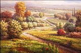 Roberto Lombardi Vineyard View II painting