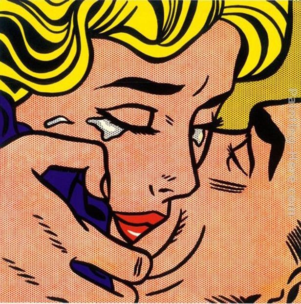 Roy Lichtenstein Kiss V