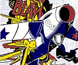 Roy Lichtenstein Blam painting