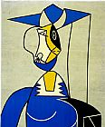 Pop Art paintings - Femme au Chapeau by Roy Lichtenstein