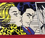Roy Lichtenstein In the Car painting