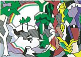 Roy Lichtenstein Landscape with Figures, 1980 painting
