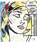 Roy Lichtenstein No, Thank you! painting