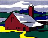Roy Lichtenstein Red Barn II, 1969 painting