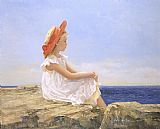 Sally Swatland Looking Out to Sea painting