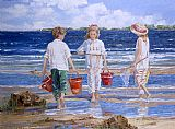 Sally Swatland Nets and Pails painting