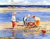 Sally Swatland Sand Castle Day painting