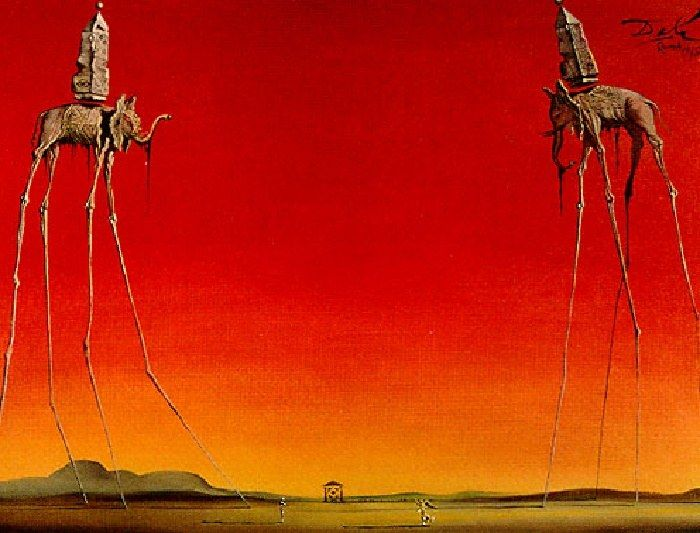 Salvador Dali Les Elephants