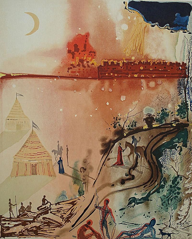 Salvador Dali The Siege of Jerusalem