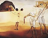 Salvador Dali Enchanted Beach with Three Fluid Graces painting