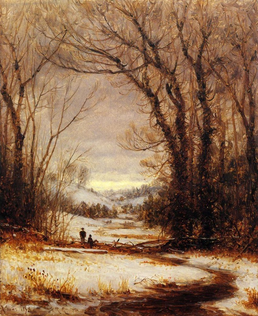 Sanford Robinson Gifford A Winter Walk