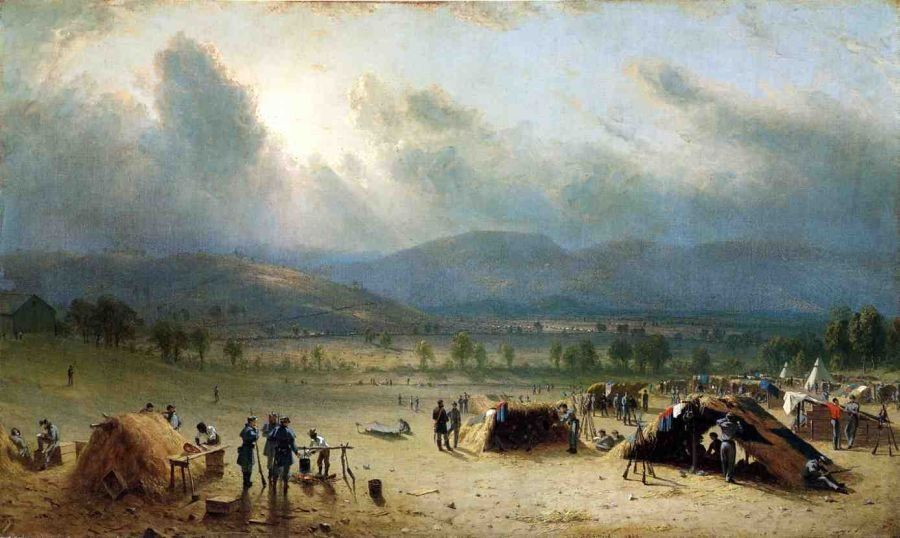 Sanford Robinson Gifford Camp of the Seventh Regiment, near Frederick, Maryland, in July 1863