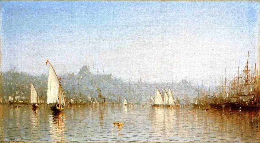 Sanford Robinson Gifford Constantinople, from the Golden Horn