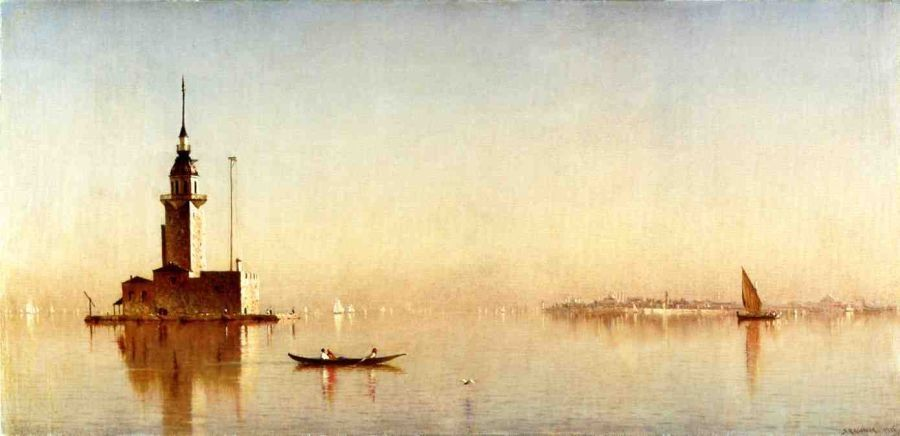 Sanford Robinson Gifford Leander's Tower on the Bosphorus