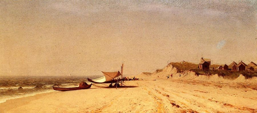 Sanford Robinson Gifford Long Branch Beach