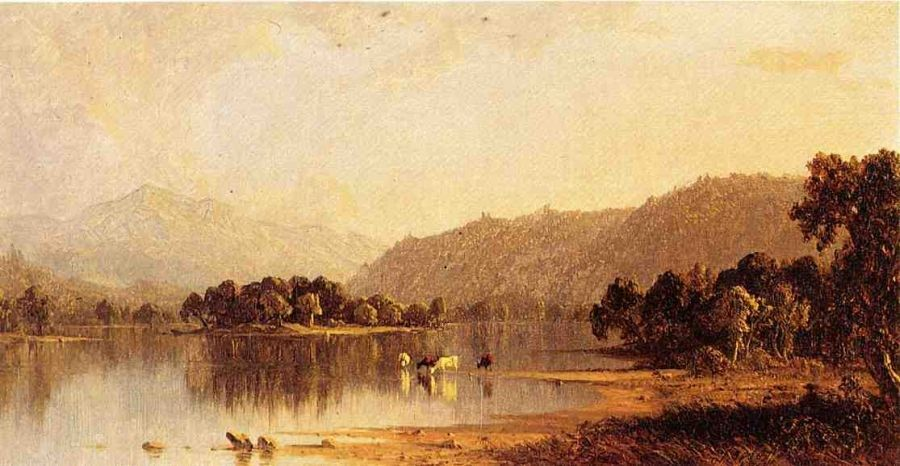 Sanford Robinson Gifford Mount Washington from The Saco River