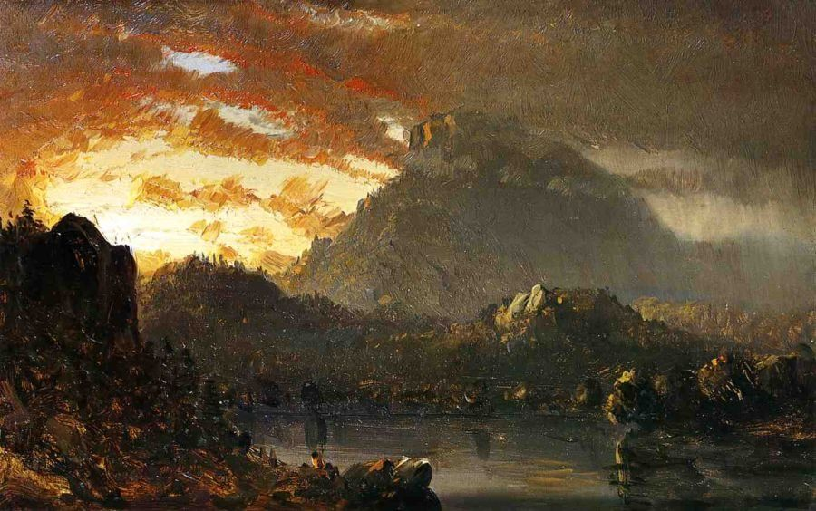 Sanford Robinson Gifford Sunset in the Wilderness with Approaching Storm